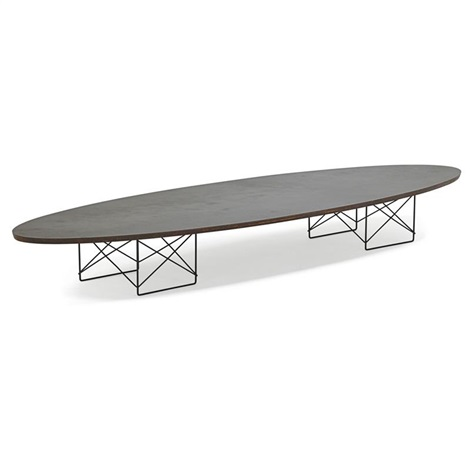 Charming Elliptical Table Rod (etr) Surfboard Table By Charles And Ray Eames
