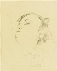 porträt einer jungen frau by johannes itten