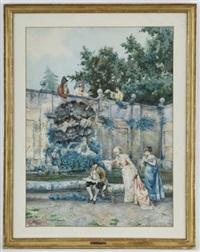 scène galante by pietro gabrini