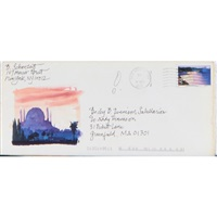 envelopes with a variety of domestic and air mail stamps, (76 works) by ben schonzeit
