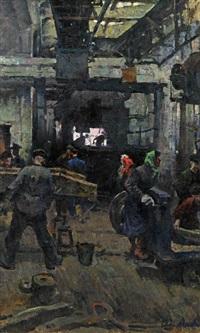 einblick in eine fabrikshalle by adolf aleksejev