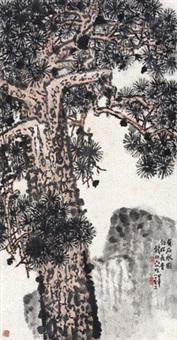 松石图 镜心 纸本 by qian songyan