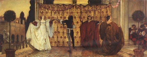 the dance of the troubadors by edwin austin abbey