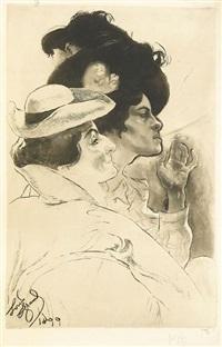 deux femmes by louis legrand