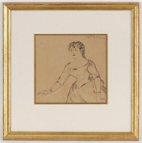 portrait de mademoiselle paula rebion by jean françois raffaëlli