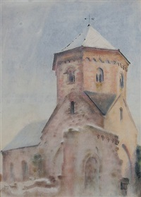 klosterkirche seebach bei bad dürkheim by august wilde