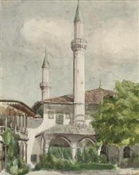 the mosque of khan's palace in bakhchisarai, crimea by wladimir g. krikhatzkij