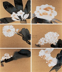 flower (+ 5 others; 6 works) by lin lang