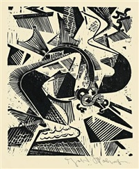 tabula rasa - ein sturmvogel, pl. 6 (from summa summarum) by johannes molzahn