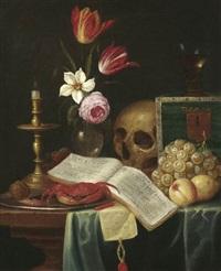 vanitasstilleben by theodorus (dirk) smits