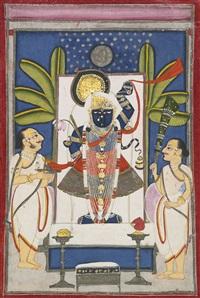 dauji ii performing arati before sri nath ji by anonymous-indian (19)