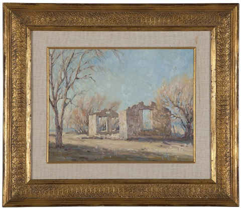 adobe ruin, possibly monterey by clyde forsythe