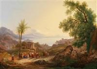 weite landschaft mit christus und jüngern by karoly marko the younger
