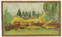 landscape with golden foliage by henry varnum poor