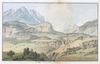 vue dessiné dans la valleé oberhasli by johann ludwig aberli