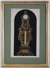 projet pour une horloge avec baromètre by charles piaget