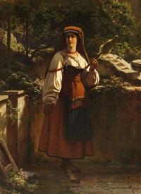 römische spinnerin in tracht by richard freytag