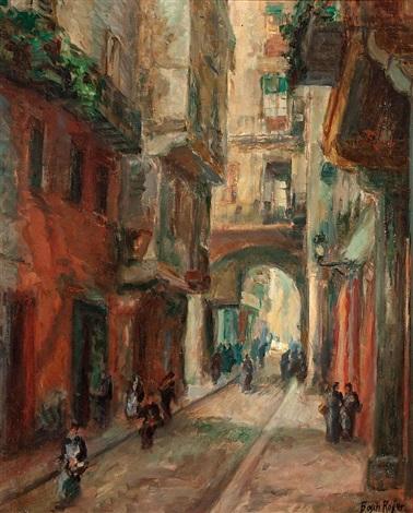 carrer de les caputxes de barcelona by emili bosch roger