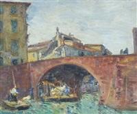 il ponte sul canale, pisa by umberto vittorini