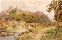 richmond castle and river swale by george hodgson