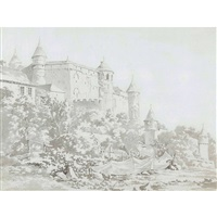 le château de grandson by balthasar anton dunker