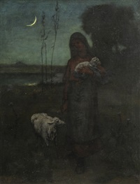 shepherdess by elliot daingerfield