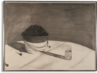 a bucket of cherries by julio larraz