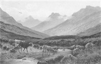glen sannox, isle of arran by albert dunington