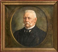 brustportrait von hindenburg by carl langhorst