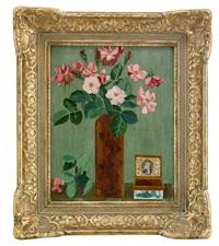 stilleben med rosor i vas by hilding linnqvist