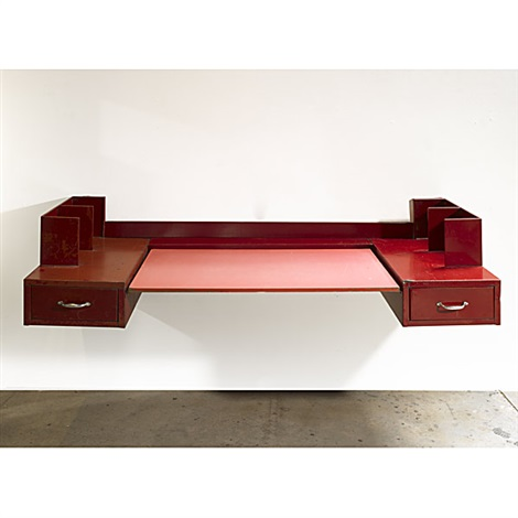 Wall-hanging desk by Jean Prouvé and Jules Leleu on artnet