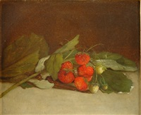still life with strawberries by william moore davis