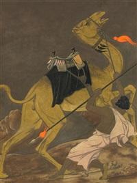 kameltreiber mit seinem tier by werner peiner