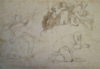 angels (study)(+ another, smllr; 2 works) by john hamilton mortimer