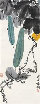 丝瓜瓢虫 立轴 纸本 by qian juntao