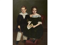 a portrait of a brother and his sister by french school