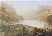 brunnen sammt dem ruetli und tellenplatten am vierwaldstaedter see by johann heinrich bleuler the younger
