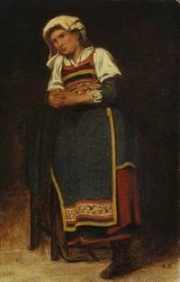 an italian woman (study) by anton laurids johannes dorph