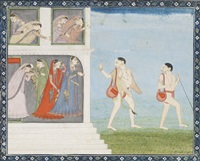 an illustration to a ramayana series: bharata renounces the kingdom and goes in search of rama by anonymous-indian (19)