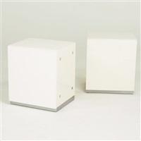 pair of sidetables/nightstands by milo baughman