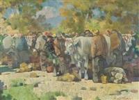 al mercato del bestiame toscano by giulio da vicchio