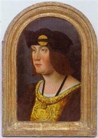 brustporträt eines betenden herrn by master of the magdalen legend
