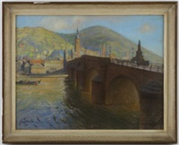 pont sur le neckar, heidelberg by franz huth