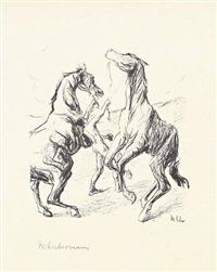 pferdebändiger by max liebermann