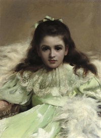 anne as alice in wonderland by thomas benjamin kennington