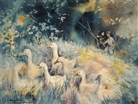 homeward ducks by abdullah ariff