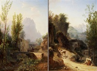 gebirgslandschaften (pair) by gabriele smargiassi