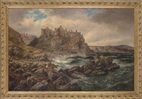dunluce castle, county antrim, ireland by albert dunington