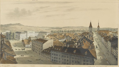 panorama von bern in 2 parts by rudolf huber