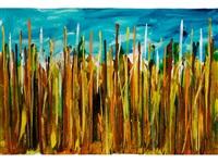 campo di grano by mario schifano